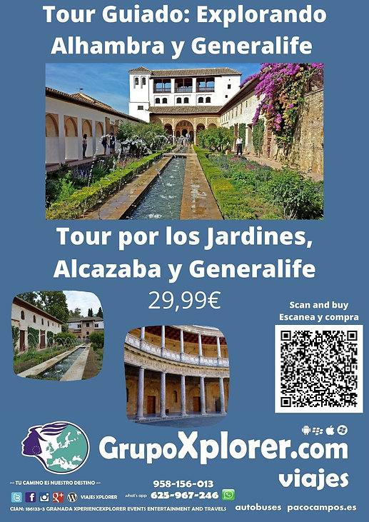 Tour Guiado Explorando Alhambra y Genera