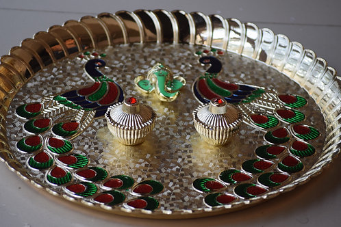 Pooja Plate Peacock