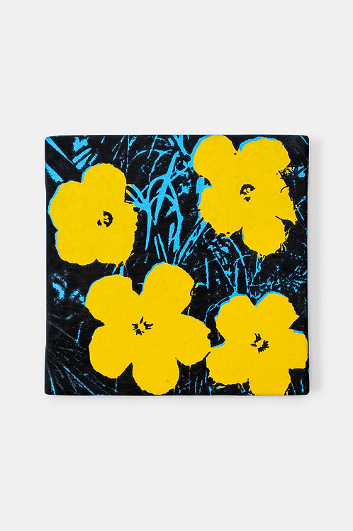 Eric Doeringer - Andy Warhol (Flowers Yellow/Blue), 2021