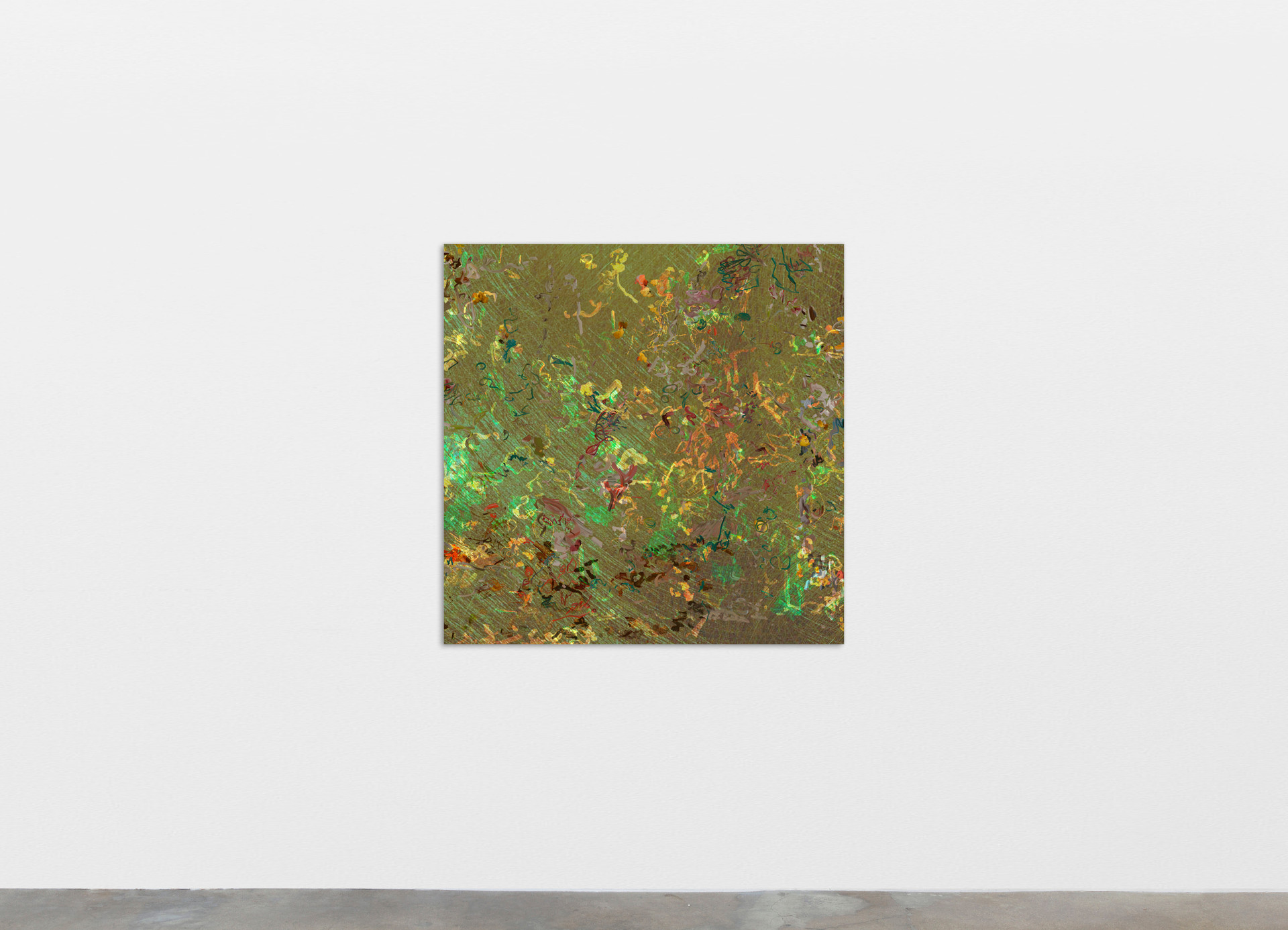 """Petra Cortright liz's horoscope page_lustylady """"madonna in bondage"""", 2020 Digital painting on anodized aluminum 83.82 x 83.82 cm 33 x 33 in"""