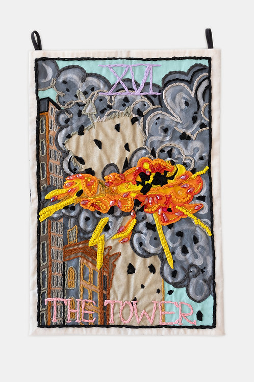 Berenike Corcuera - XVI The Tower, Taroracle Book Card Collection, Series I