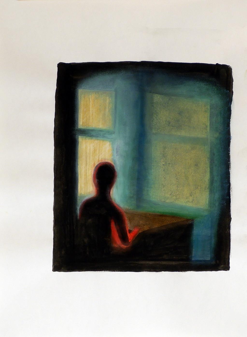 Anton Juul Untitled III 2020 Pastel on paper 40 x 30 cm