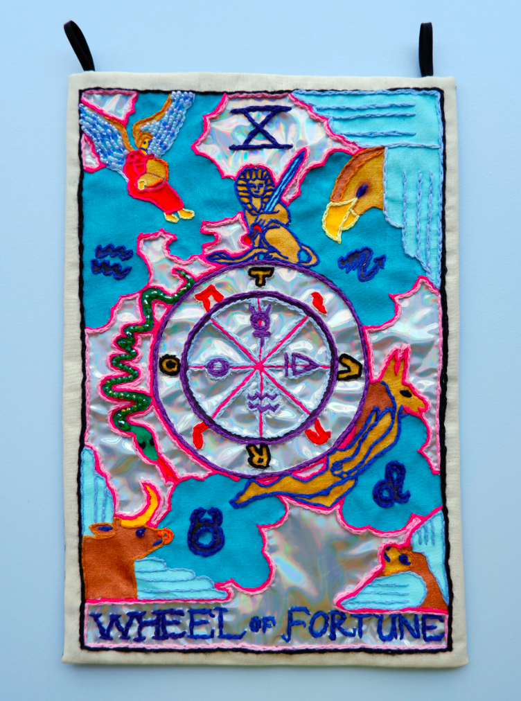 Berenike Corcuera X Wheel of Fortune, Taroracle Book, 2020 Textile and Mixed Materials 38 x 25 cm