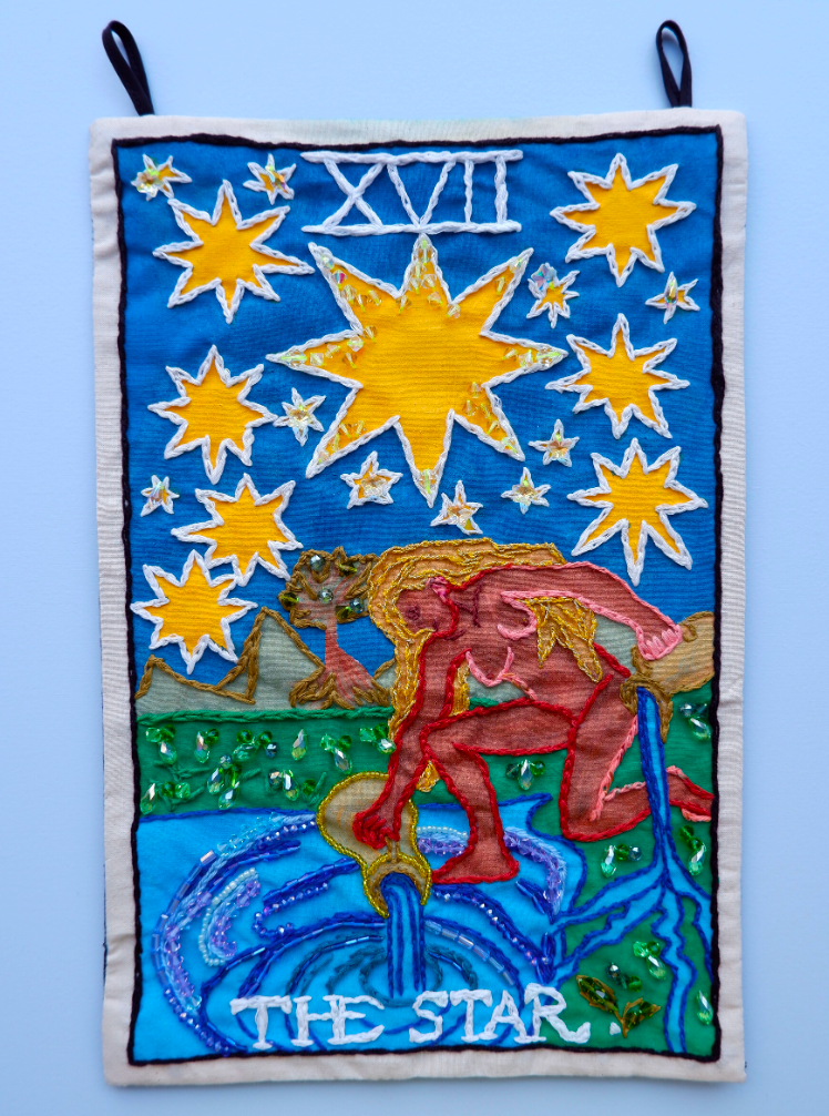 Berenike Corcuera XVII The Star, taroracle book, 2020 Textile and Mixed Materials 38,5 x 25 cm