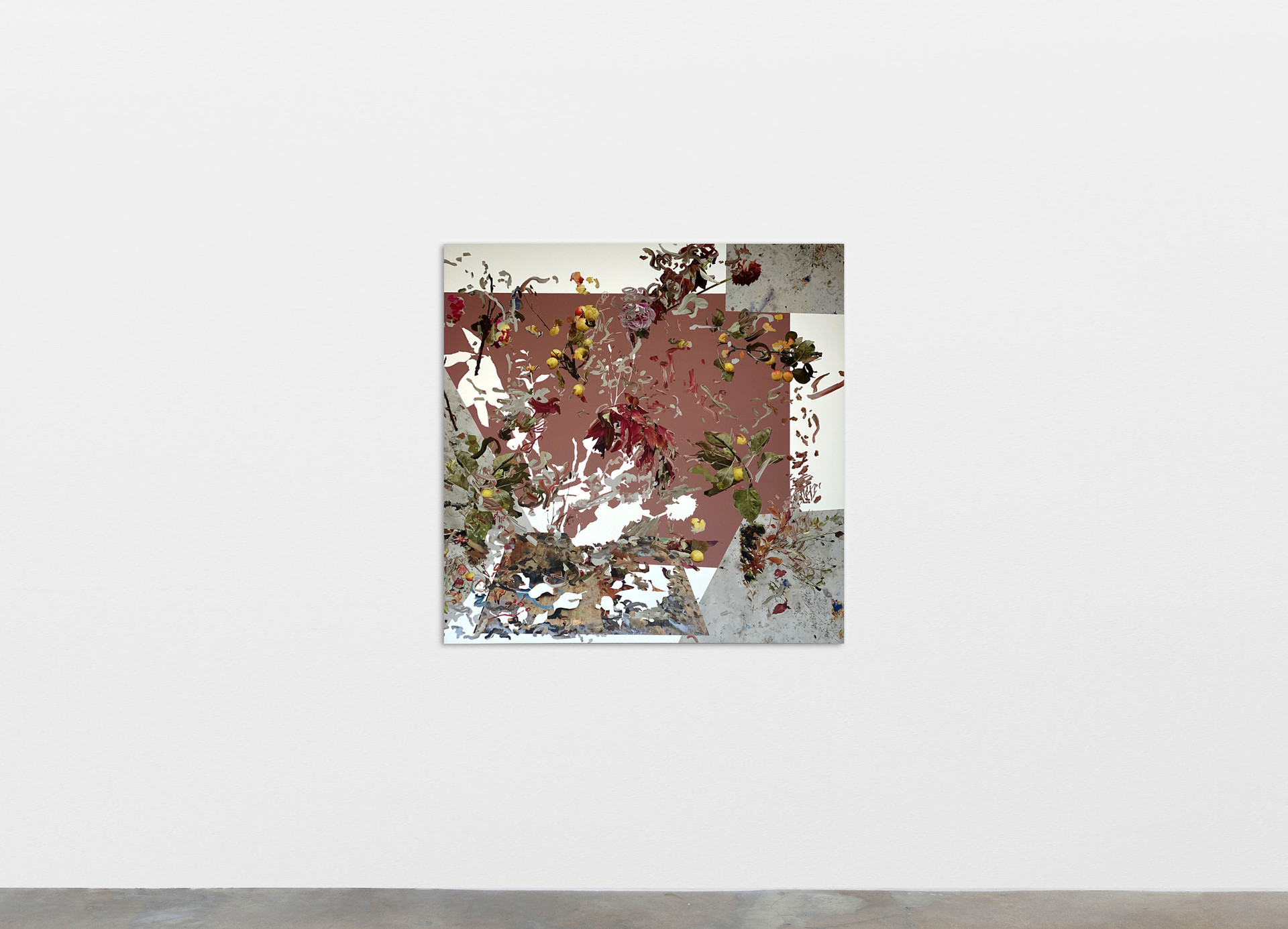 Petra Cortright download_starcraft_games+diablo2+diablo+downloads, 2020 Digital painting on anodized aluminum 83.82 x 83.82 cm 33 x 33 in