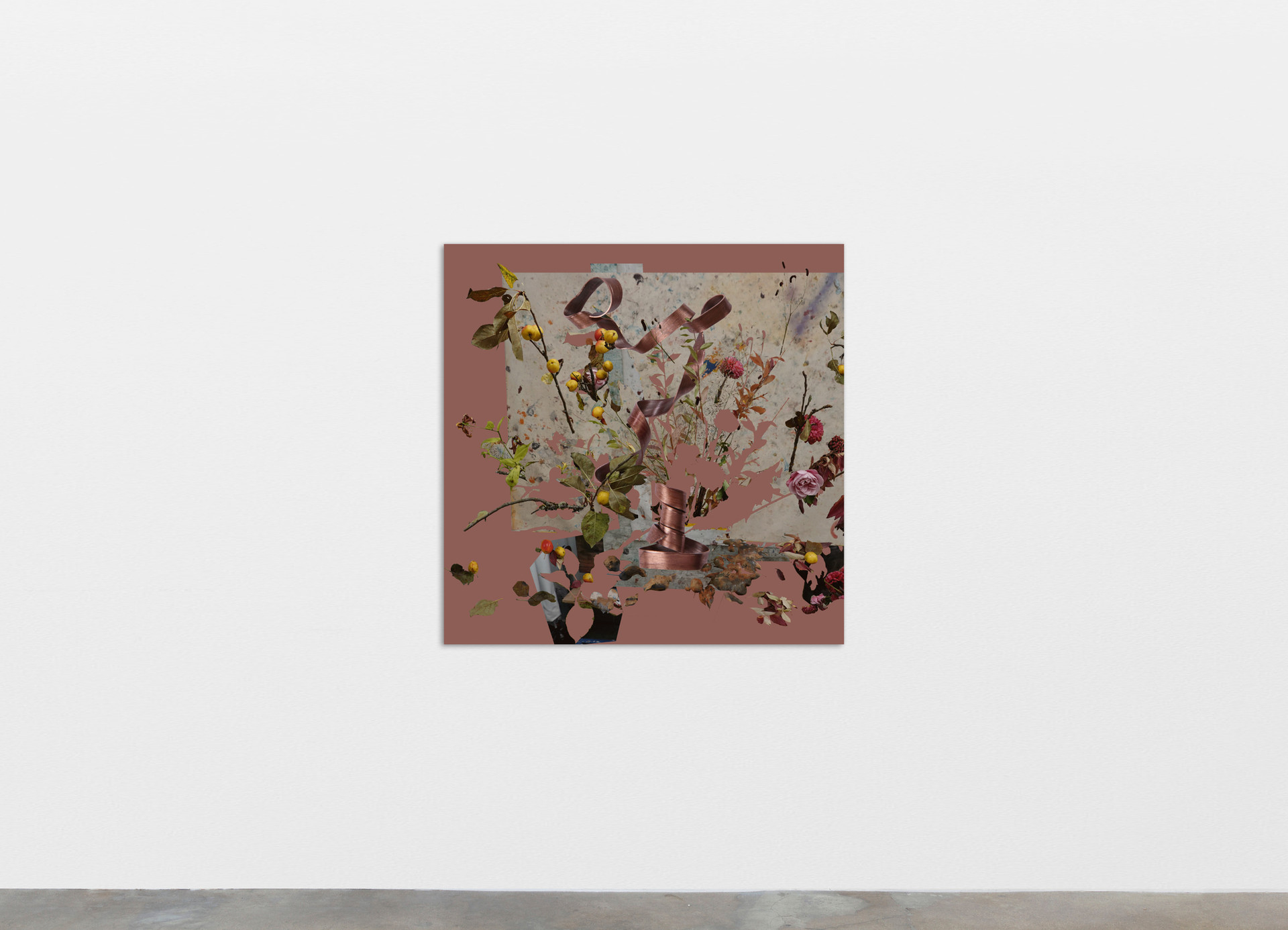 Petra Cortright 1831 Bremen 69 position_ancer, 2020 Digital painting on anodized aluminum 83.82 x 83.82 cm 33 x 33 in