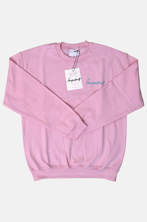 Classic IMPORTANT Sweatshirt (Pink)