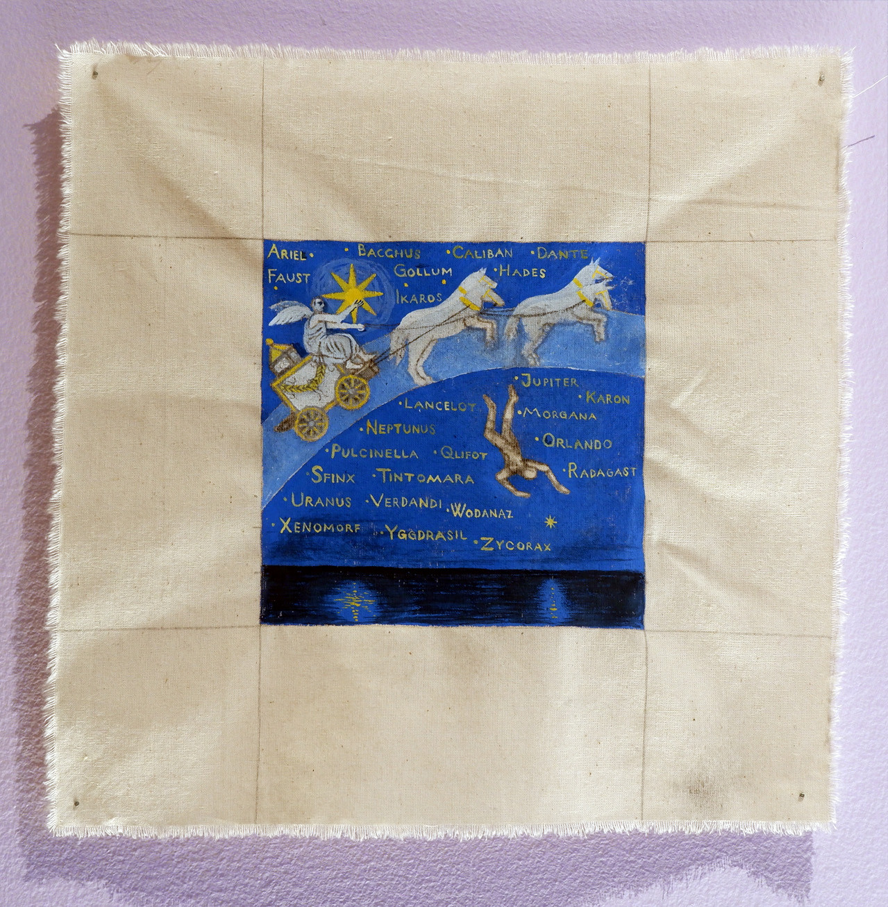 Albin Werle Ariel, Bacchus, Caliban, 2020 Gouache on cotton 29x29 cm