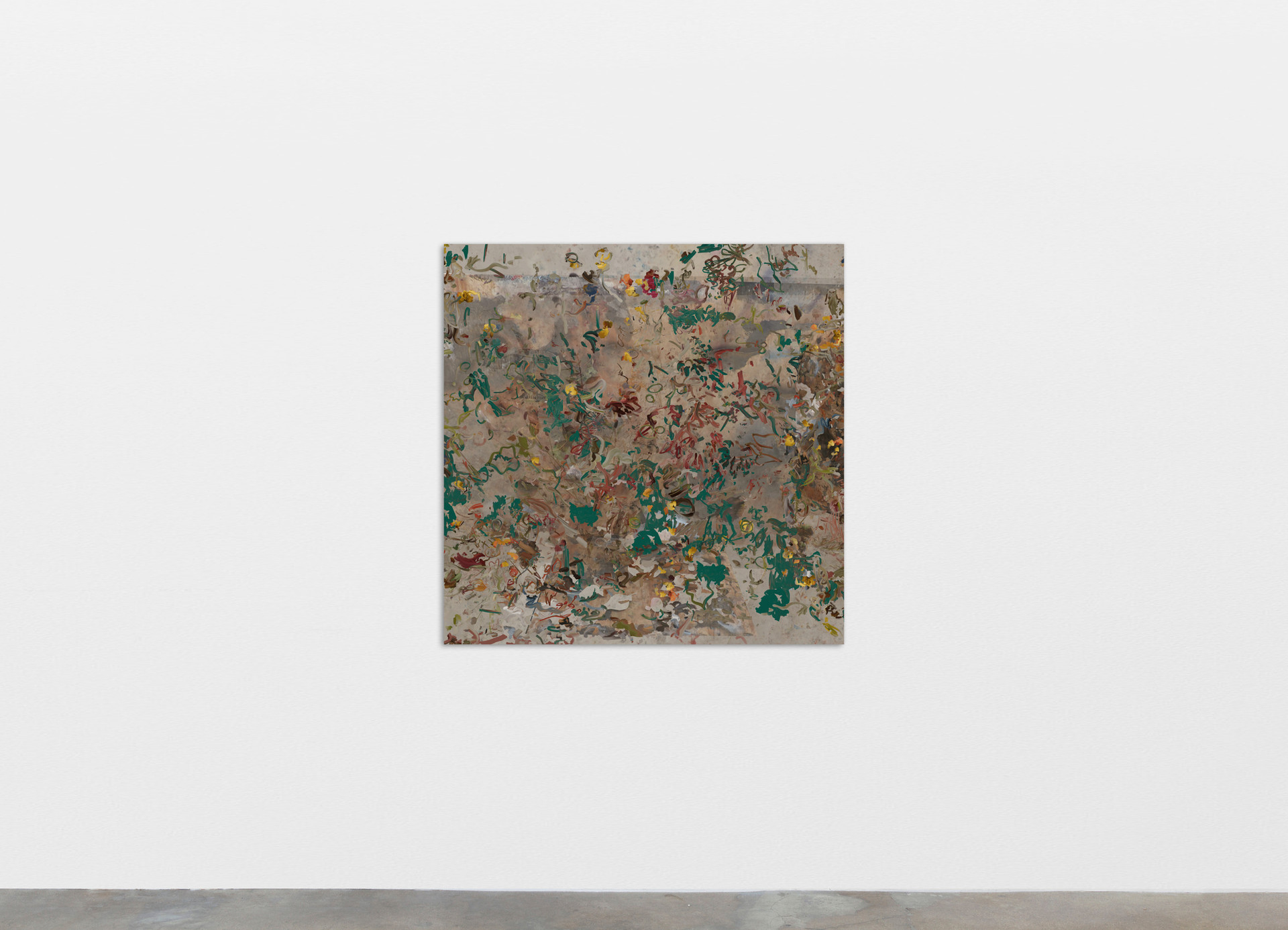 """Petra Cortright manifestazioni aeree_naked beach """"Now contact"""" AND """"up-to-date"""", 2020 Digital painting on anodized aluminum 83.82 x 83.82 cm 33 x 33 in"""