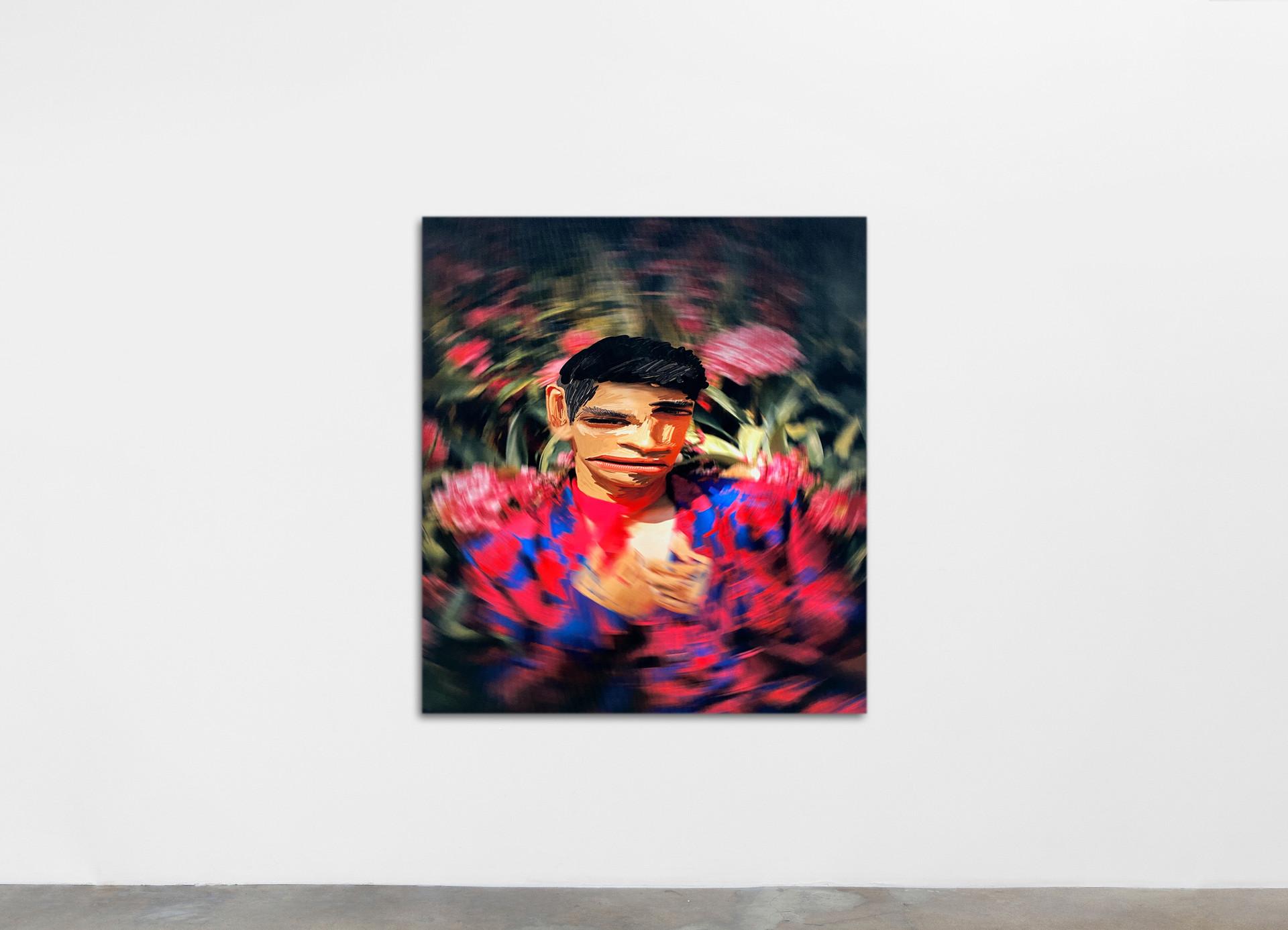 Ry David Bradley =H4Ti, 2020 Dye Transfer on Velvet 120 x 130 cm 47 1/4 x 51 1/8 in
