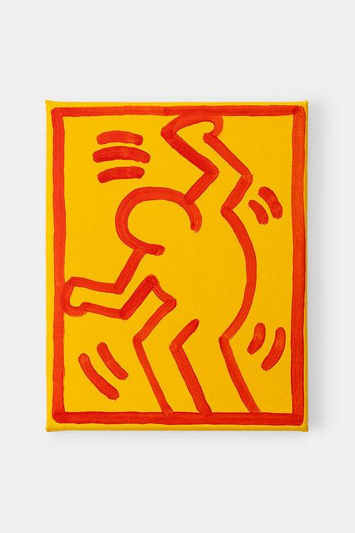 Eric Doeringer - Keith Haring (Vertical), 2021