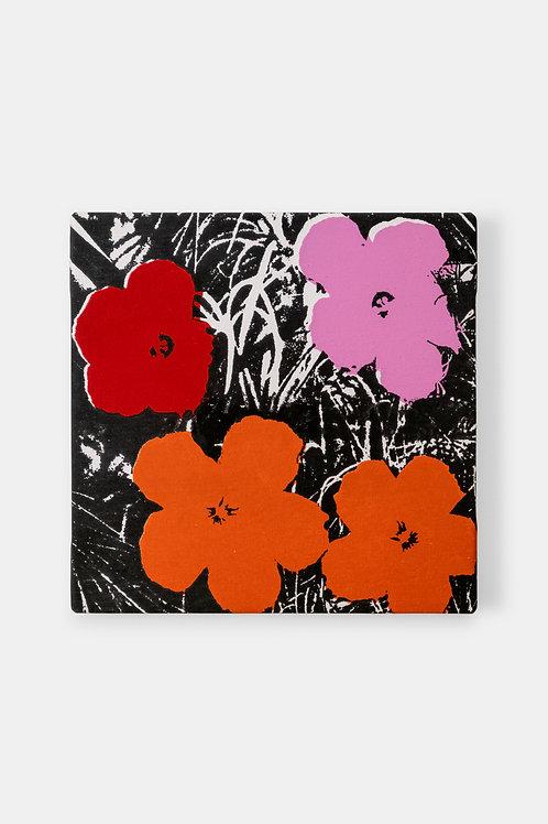 Eric Doeringer - Andy Warhol (Flowers Red/Black), 2021