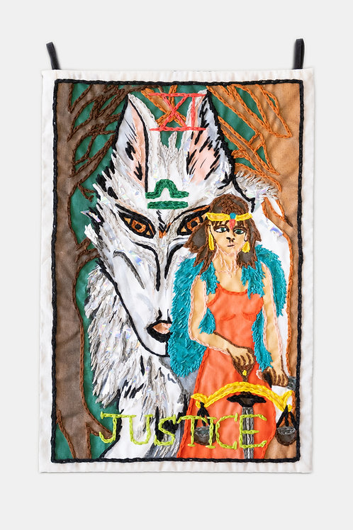 Berenike Corcuera - XI Justice, Taroracle Book Card Collection, Series I, 2021