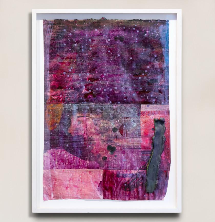 Kristian Touborg Loophole Trail Studies (II), 2019 Oil on paper 67 x 49 cm (framed)