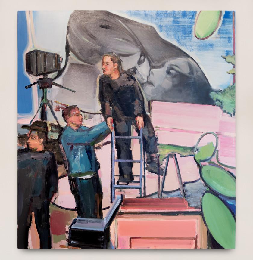 Andrius Zakarauskas Seanse, 2017 Oil on canvas 160.5 x 145.5 cm