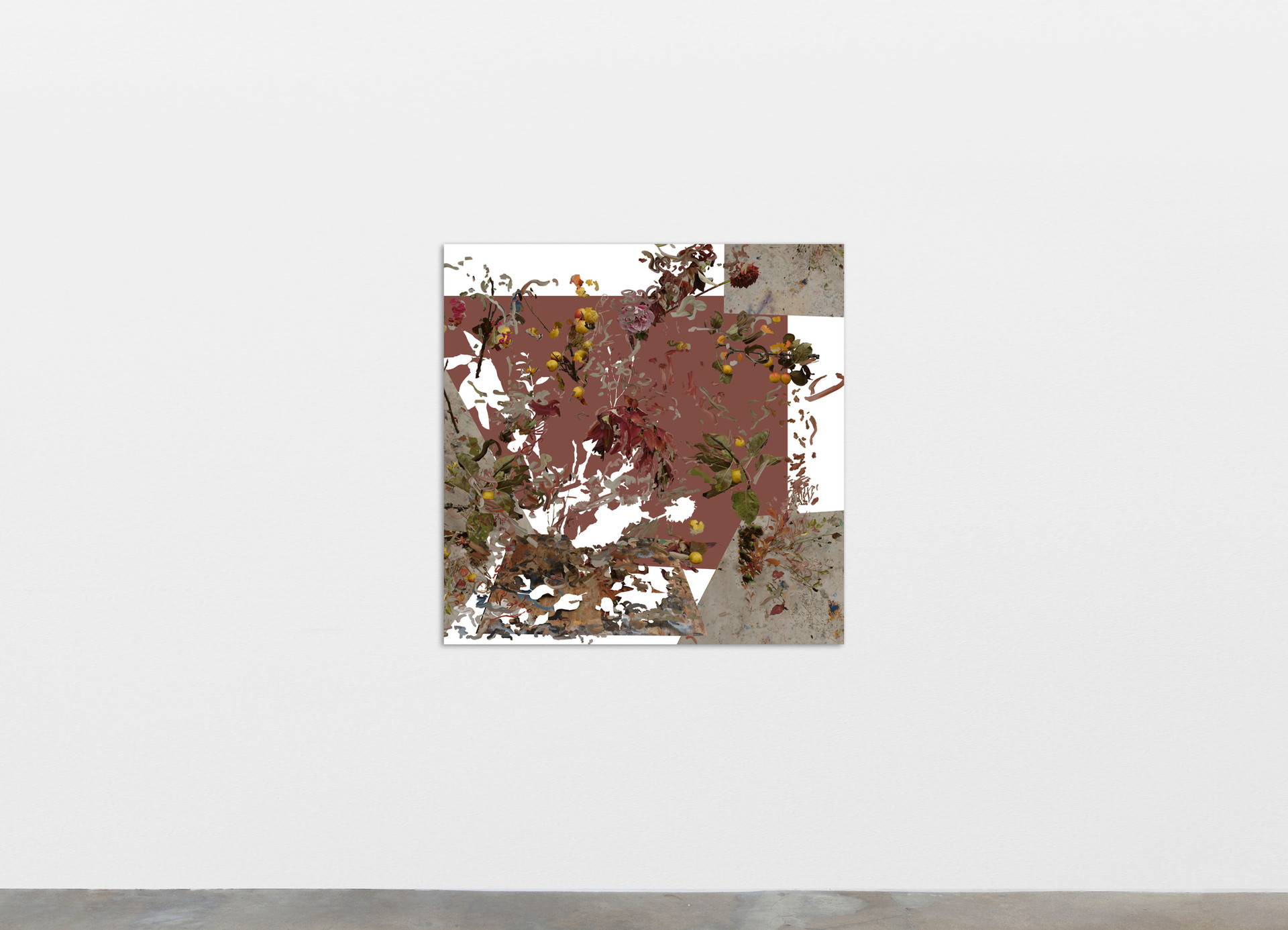 Petra Cortright cinema+godzilla COIL FEEDERS_COMLTE WORKS OF SHAKESPEAREE, 2020 Digital painting on anodized aluminum 83.82 x 83.82 cm 33 x 33 in