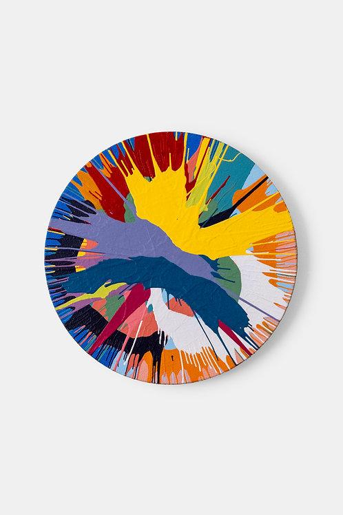 Eric Doeringer - Damien Hirst (Spin) 2, 2021