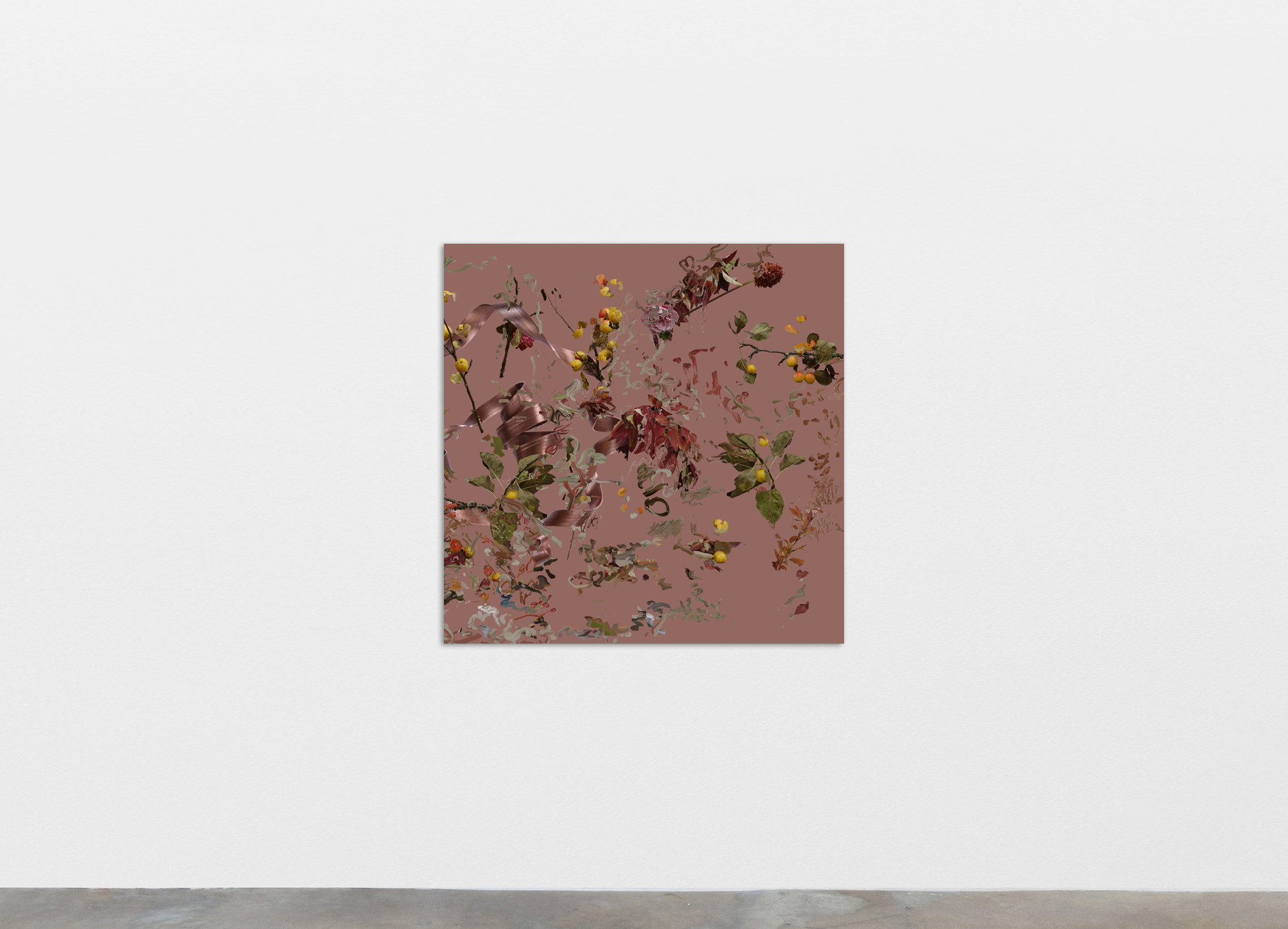 Petra Cortright hack crack appz fireworks hippocampus, 2020 Digital painting on anodized aluminum 83.82 x 83.82 cm 33 x 33 in