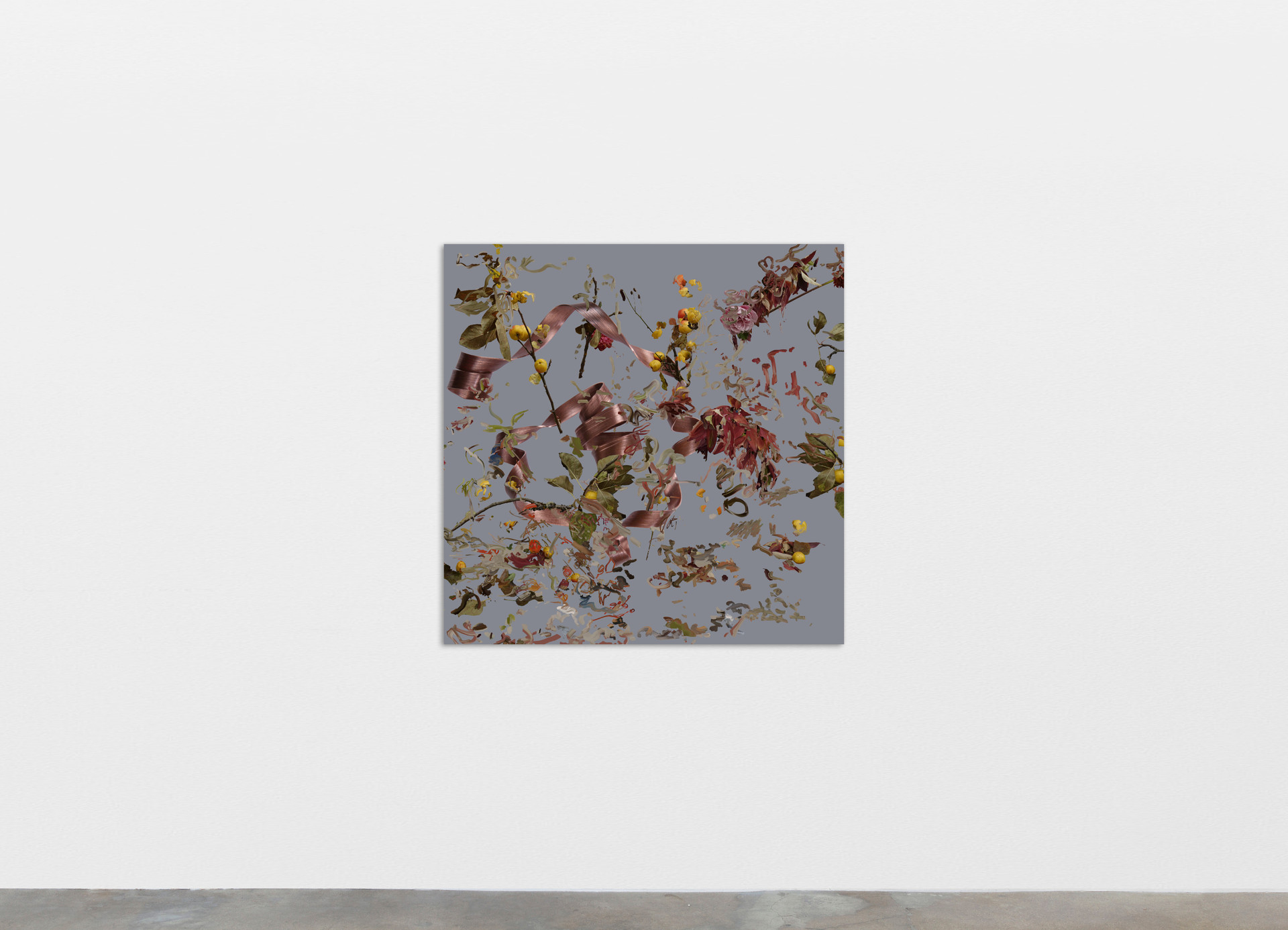 """Petra Cortright I rememe loving you_""""IMAGE/SQL"""" 2000 Images of Erotica, 2020 Digital painting on anodized aluminum 83.82 x 83.82 cm 33 x 33 in"""