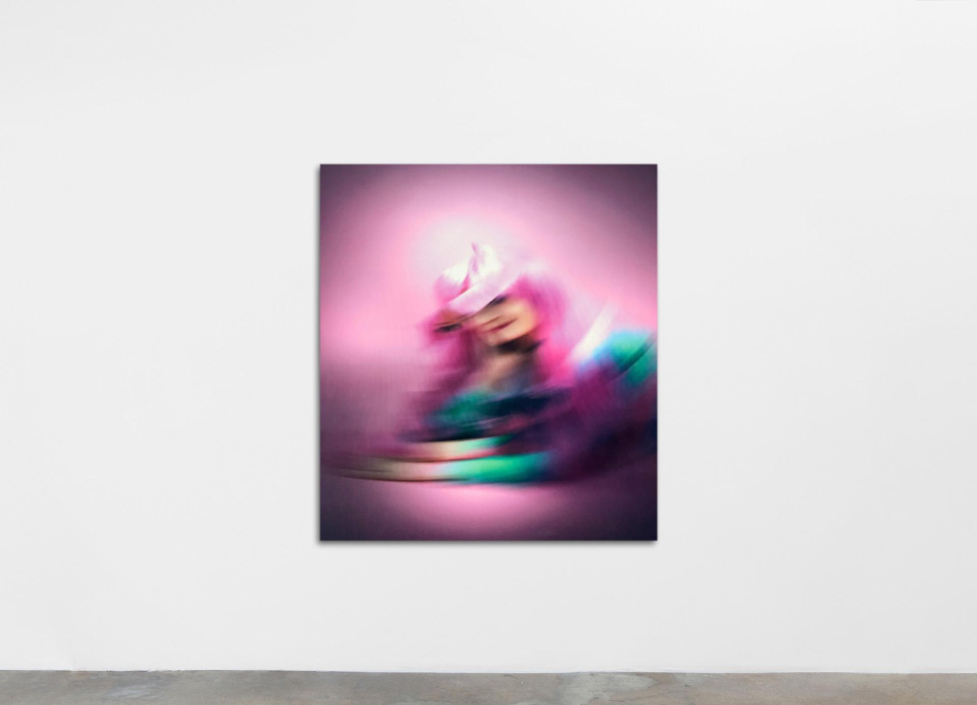 Ry David Bradley -YaT@0, 2020 Dye Transfer on Velvet 120 x 130 cm 47 1/4 x 51 1/8 in