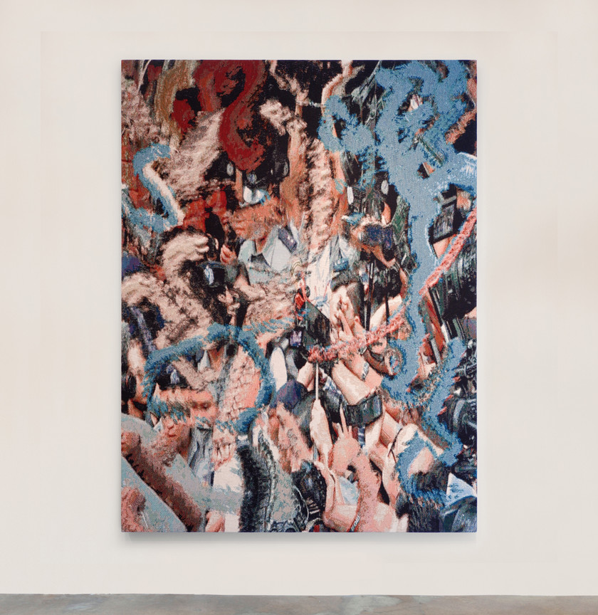 Ry David Bradley <xH:3Q, 2018 Dye cotton tapestry 190 x 140 cm