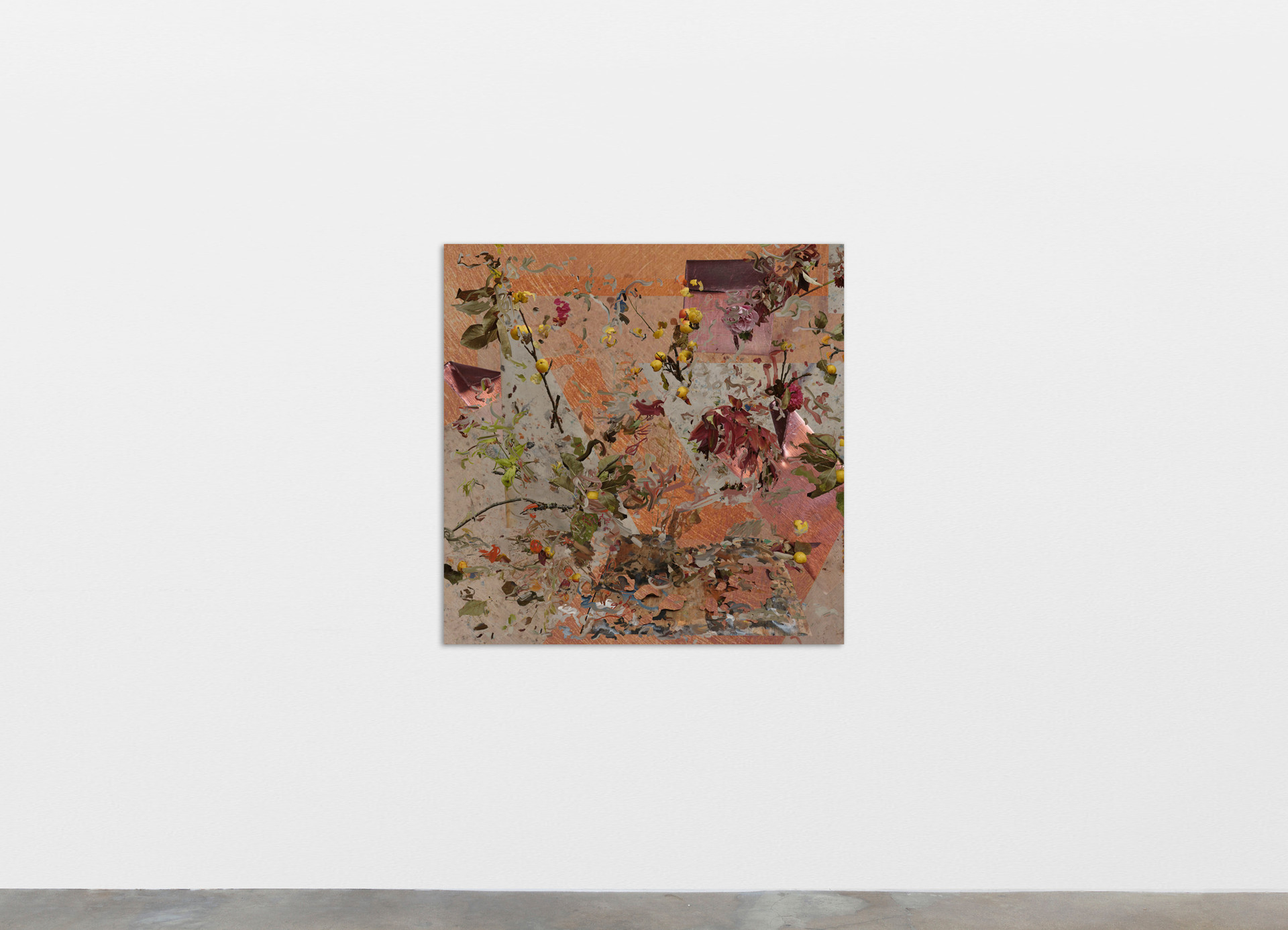"""Petra Cortright """"gertrude stein standard poodle""""_GRANDTHEFT AUTO, 2020 Digital painting on anodized aluminum 83.82 x 83.82 cm 33 x 33 in"""