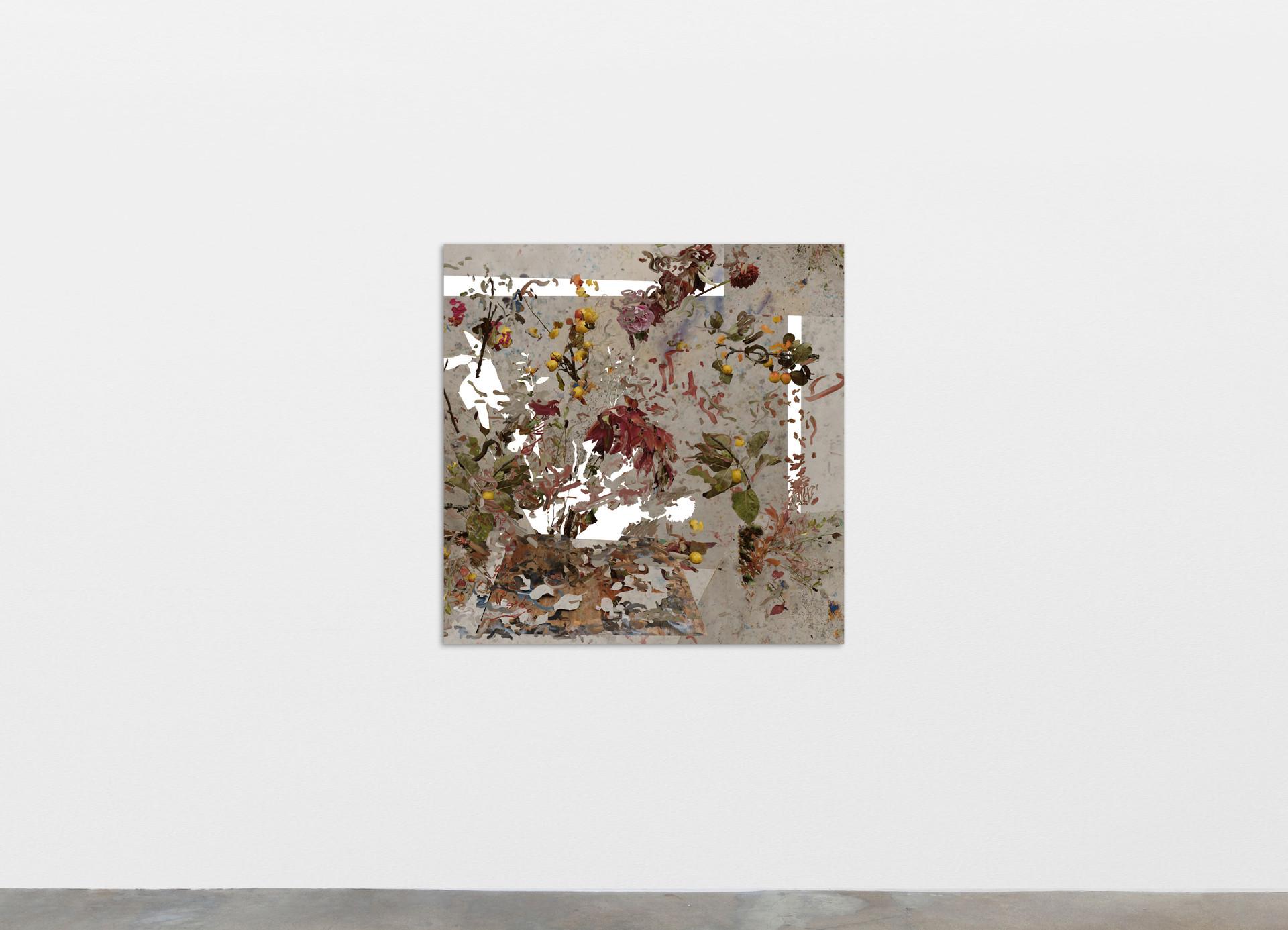 Petra Cortright autek_cerchiamo concessionari_children-eating, 2020 Digital painting on anodized aluminum 83.82 x 83.82 cm 33 x 33 in