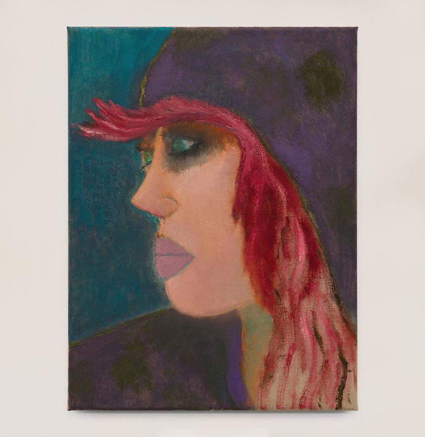 Kasper Sonne Red Hair, 2021 Oil on linen 40 x 30 cm