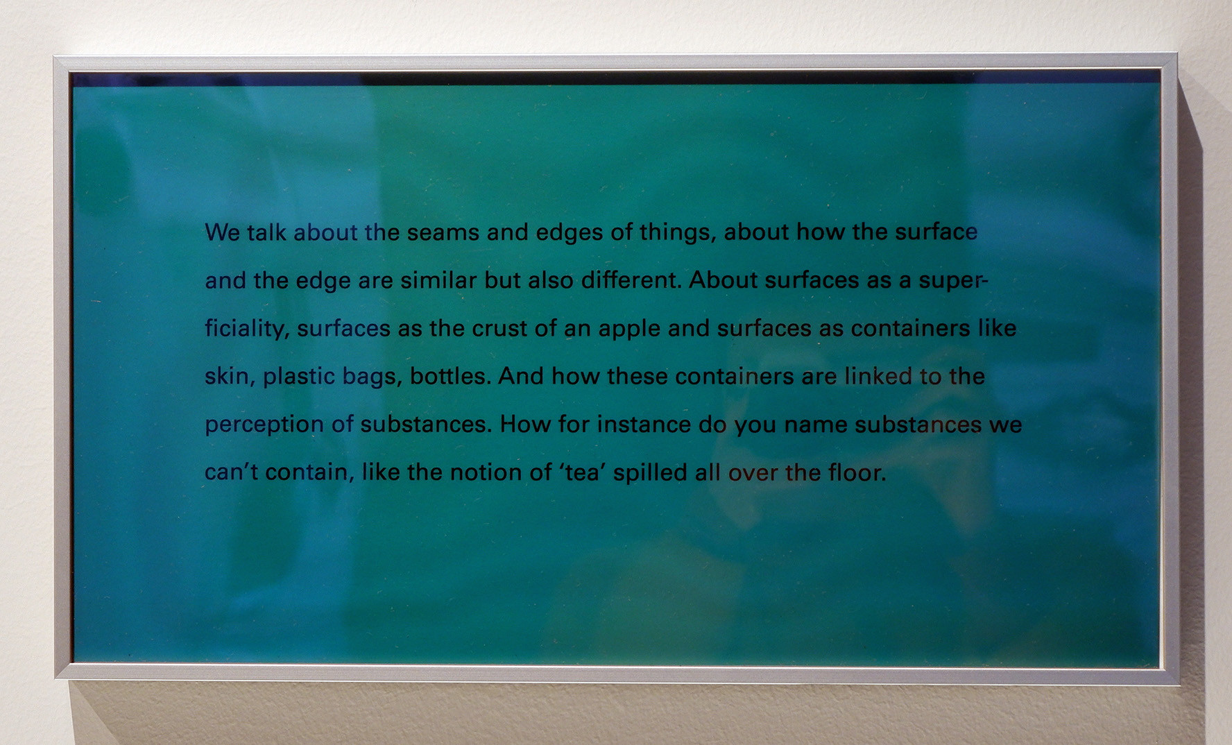 Elisabeth Molin Seams and Edges , 2019 text, privacy film 17 x 31 cm Edition of 1 + 1 AP