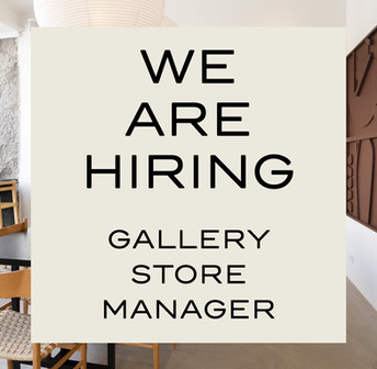 WE ARE HIRING - GALLERY STORE MANAGER