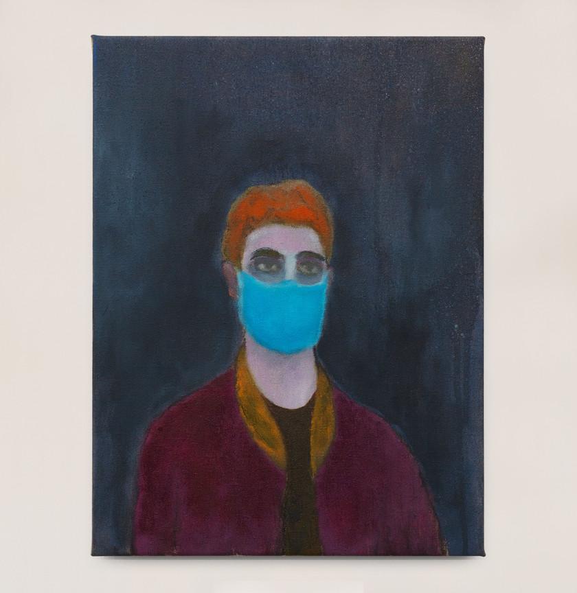 Kasper Sonne Mask, 2021 Oil on linen 30 x 40 cm