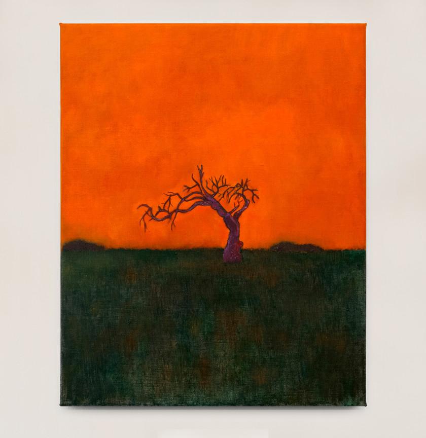 Kasper Sonne Fire in the sky, 2021 Oil on canvas 50 x 40 cm