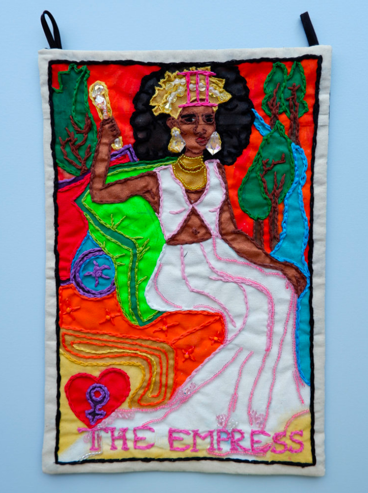Berenike Corcuera III The Empress, Taroracle Book, 2020 Textile and Mixed Materials 38 x 25 cm