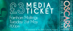 Oscars 2013 Ticket - Media Blue