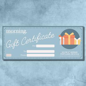 Morning - Gift Certificate