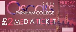 Oscars 2014 Ticket - Media