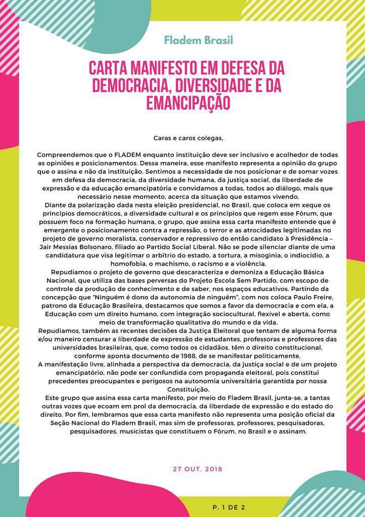 Manifesto em defesa da Democracia