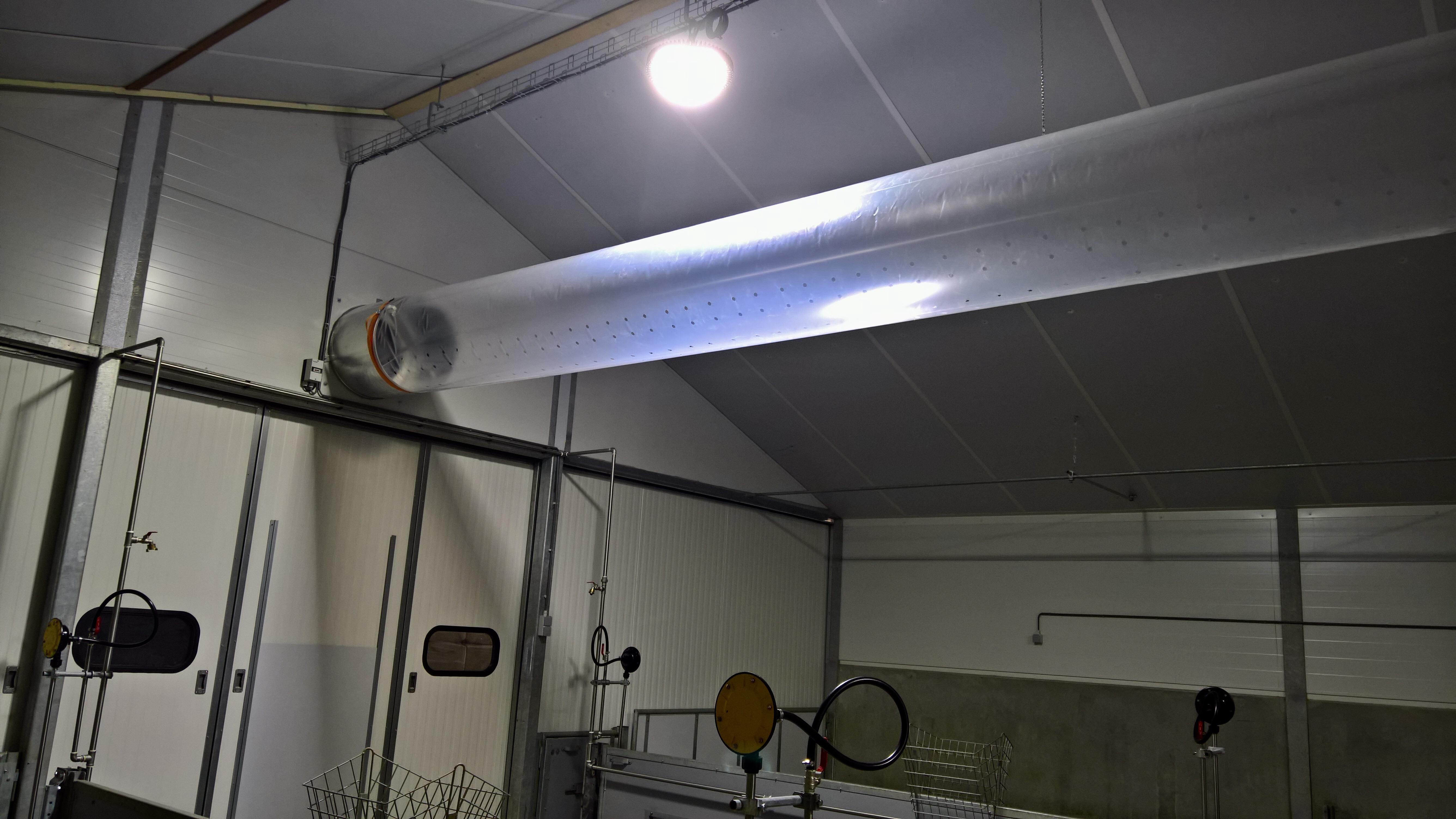 ventilatie overdruksysteem met buisfolie van JW ESPO