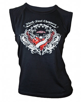 Heart sleeveless Girlie T-Shirt