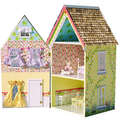 Yellow Dollhouse Interior