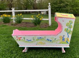Folk Art Toy Cradle Countryside