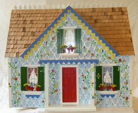 Little Blue Cottage Dollhouse