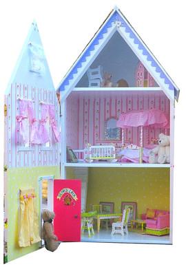 Bear's Lair dollhouse interior