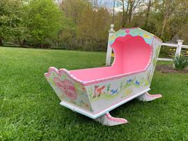 Folk Art Toy Cradle