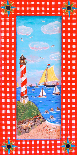 Meeting of Friends by the Sea 12 x 28 SO