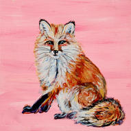 Fox on Pink - can be customized