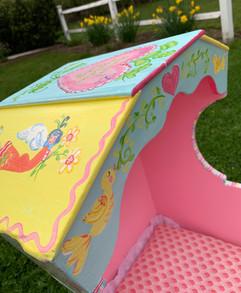 Folk Art Toy Cradle Bonnet