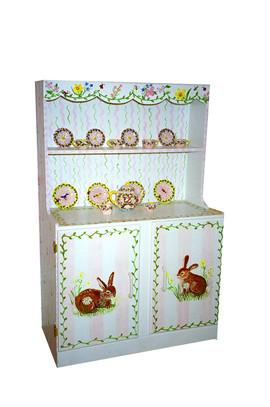 Toy china Cabinet and custom tea set