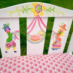 Folk Art Doll Crib