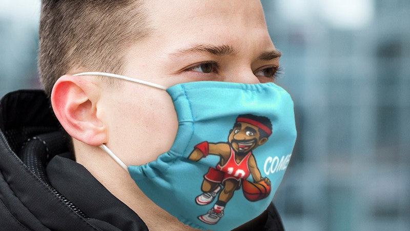 Custom Printed Face Masks (240g Elastic Polyester) (qty of 100)